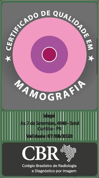 Selo Certificado de Qualidade em Mamografia